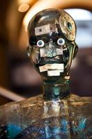 High Tech Futuristic View of Robot Mannequin with External Details photo