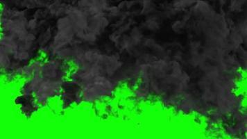 Bomb Explosion on Green screen. 3D illustration video