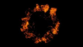 4 Fire Particle Shockwaves Overlay. Graphic Elements video