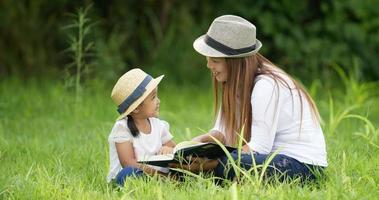 Mom and Daughter Reading a Book video