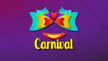 Opening template for Carnival festival at Brazil. video