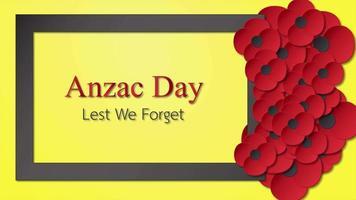 gráfico en movimiento para el día de anzac el 25 de abril. video