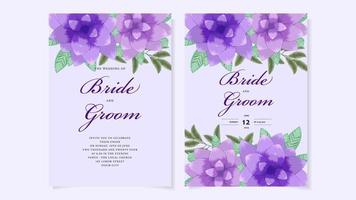 Romantic botanic Floral Wedding invite flower thank rsvp save the date vector