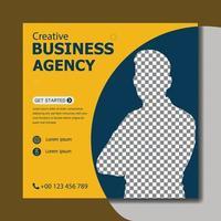 Digital marketing agency social media post template vector