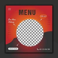 Today food menu social media post vector