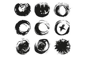 grunge circle brush vector