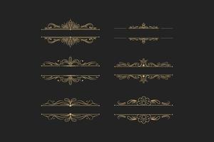 Vintage Dividers And Borders vector