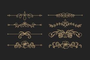 Calligraphic ornament set vector eps 10