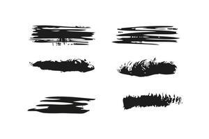 grunge brush set vector