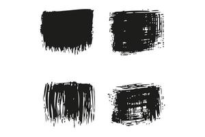 collection of grunge brush vector