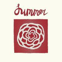 Retro summer card, emblem vector