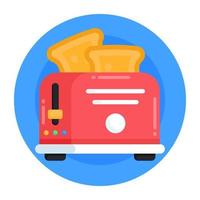 Toaster and kitchen device vector