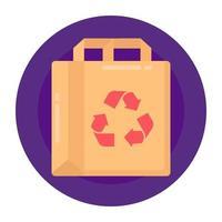 Bag Recycling Reuse vector
