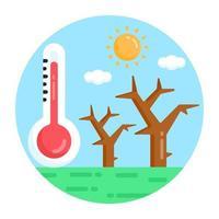 sequía y árboles desnudos vector