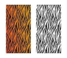 Tiger skin pattern illustration vector