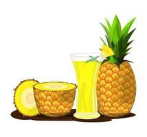 pineapple fruit juice illustration vector drawing