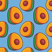 avocado fruit seamless pattern illustration vector