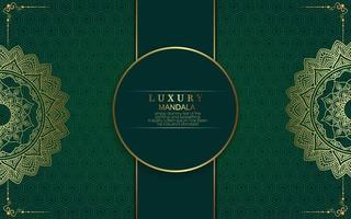Luxury gold mandala ornate background for wedding invitation vector