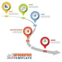 Business roadmap timeline infographic pointer design vector