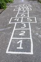 Classic children's game known as hopscotch in Brazil photo