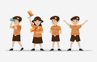 Happy Pramuka Day Character vector