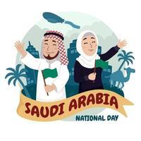 Celebrating Saudi Arabia National Day vector