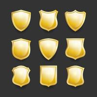 Shield Icon Collection vector