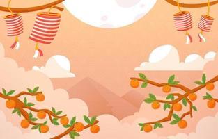 Chuseok Festival Background vector