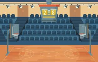 Indoor Basket Ball Courts Background vector
