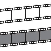 film stripes icon vector  template