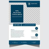 Professional concise company business flyer design template vector