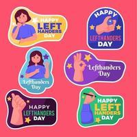 Set of Left Handed Stickers vector