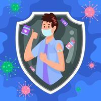 sentirse seguro después de la vacuna covid 19 vector