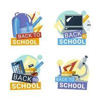 Back to School Badges Concept vector