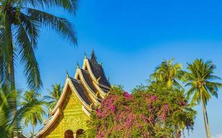 templo de wat xieng thong de la ciudad dorada luang prabang, laos foto