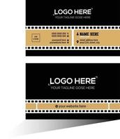 black and tan film company business card vector