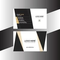 black and brown colored simple business card vector