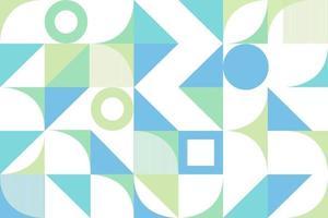 Creative geometric design blue vector