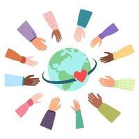 comunidad unida de diferentes nacionalidades del mundo vector