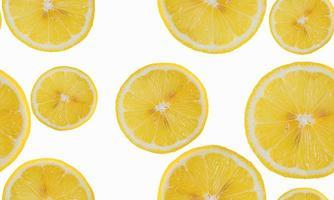 rodaja de limón aislar de patrones sin fisuras. foto