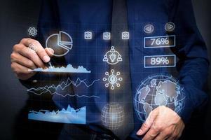 Graph investors stock economy icon illustration Stock Market photo
