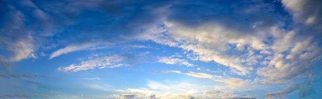 Panorama sky and clouds in the evening photo