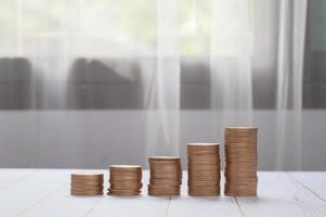 coins stacked together investment ideas stocks financial growth photo