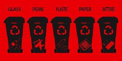 Waste bin Glyph Recycle bin on glyph style design vector