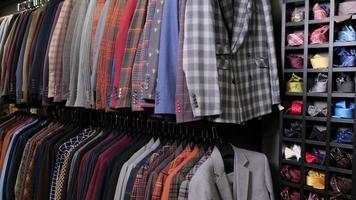 Shirts on hangers photo