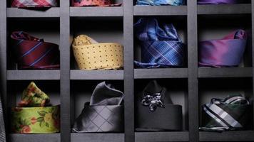 Assorted neckties on display photo