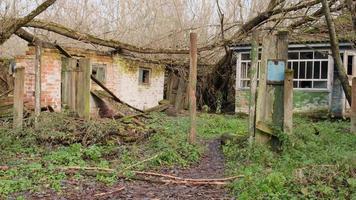 Pripyat, Chernobyl, Ukraine, Nov 22, 2020 - Abandoned house in Chernobyl photo