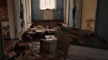 Pripyat, Chernobyl, Ukraine, Nov 22, 2020 - Abandoned flat in Chernobyl photo