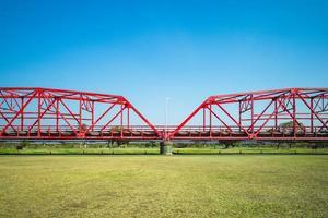 Heritage Steel Bridge at Xiluo township in Yunlin, Taiwan photo