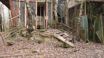Pripyat, Chernobyl, Ukraine, Nov 22, 2020 - Abandoned restaurant in Chernobyl photo